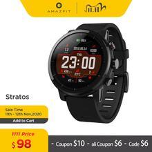 Amazfit-Smartwatch Stratos dla mężczyzn muzyka Bluetooth z Hiszpanii GPS GLONASS monitorowanie akcji serca 5ATM wodoodporny tanie tanio CN (pochodzenie) Android OS Na nadgarstku Wszystko kompatybilny 512 mb Passometer Fitness tracker Uśpienia tracker Wiadomość przypomnienie