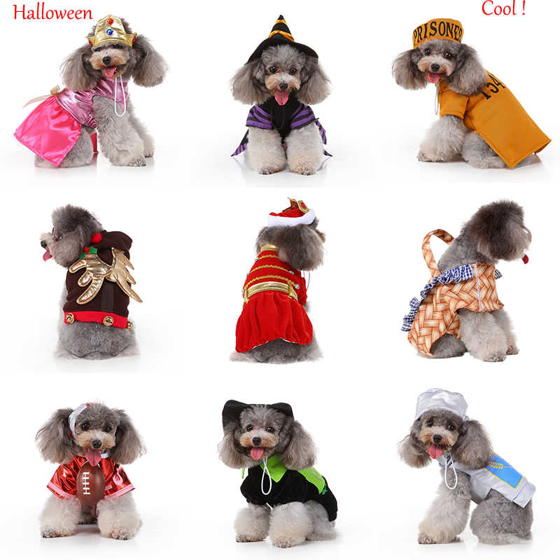 Fashion Pet Dog Clothes Puppy Cosplay Dress Up Clothing With Cap Chihuahua Teddy For Halloween Party Costume Cute Coat Dress New