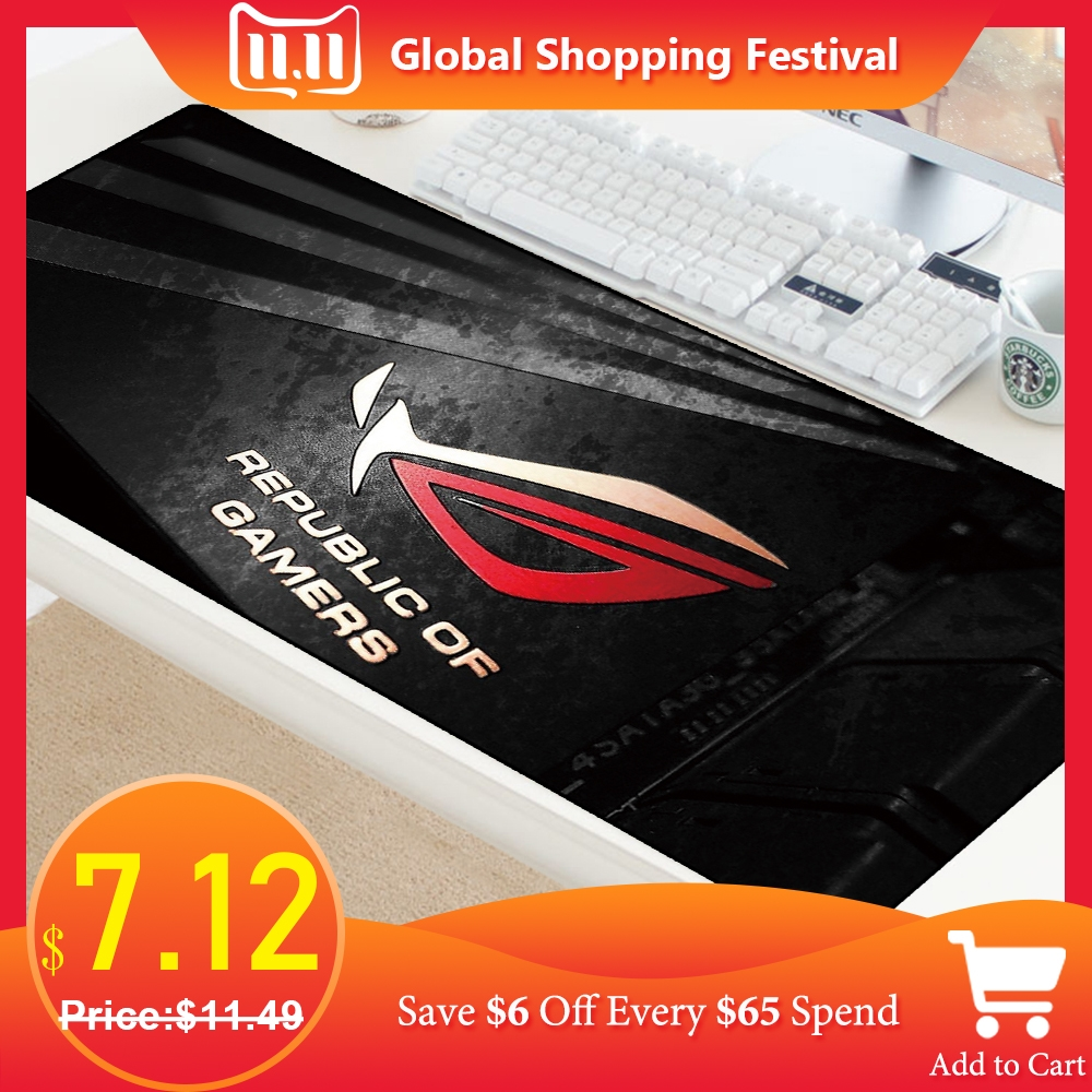 ASUS Gaming Mouse Pad Large Mouse Pad Gamer Big Mouse Mat Computer Mousepad XL Surface Mause Pad Keyboard Desk Mat For CS GO Mat