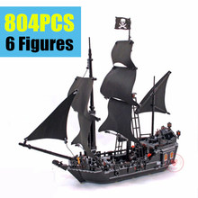 16006 39009 804Pcs Pirates Of The Caribbean 4184 The Black Pearl Ship Model Building Kit Blocks BricksToy Compatible with leg the black pearl 1151pcs queen anne s revenge pirates of the caribbean l building blocks compatible with lego kid gift set