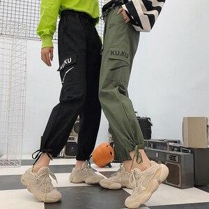 Image 3 - パンツ女性高品質貨物足首までの長ズボンソフト原宿韓国スタイルレディーストレンディソリッドポケットカジュアルすべてマッチ新しい