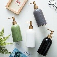 Banyo aksesuarları İskandinav ev Ins popüler seramik sabunluk şişe el Sanatizer şişe şampuan losyon şişesi