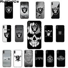 цена RuiCaiCa Oakland Raiders  luxry case coque fundas Phone Case for iPhone X XS MAX 6S 7 8 8Plus  5S XR 11 11pro cases cases cover онлайн в 2017 году