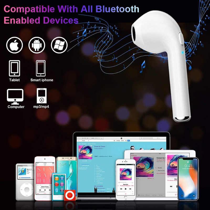 Pięć kolorowe i7S TWS true bezprzewodowe słuchawki Bluetooth słuchawki stereo słuchawki z pudełkiem ładowania Mic PK i9s i10s i11s i12s