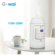 Portable Multifunction Electric Kettle Travel Camping Water Boiler Household Automatic Heating  Stainless Steel Teapot 110V-250V цена и фото