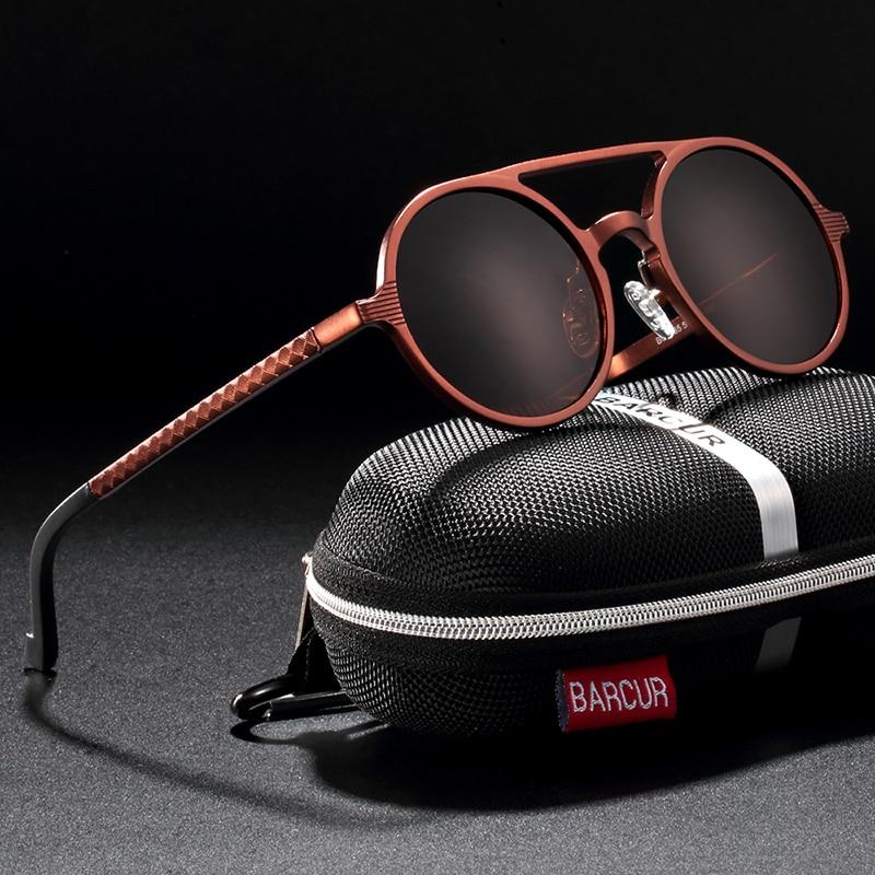 Hd7d7af0824a748dcbc91d22b10926457a BARCUR Hot Black Goggle Male Round Sunglasses Luxury Brand Men Glasses Retro Vintage Women Sun glasses UV400 Retro Style