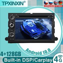 DSP 8 rdzeń 2 Din Android 10 samochodowy odtwarzacz DVD odtwarzacz dla Ford F150 F350 F450 F550 F250 Fusion ekspedycja Mustang Explorer krawędzi screenRadio tanie tanio TPXINXIN CN (pochodzenie) Jedno złącze DIN 4*50W 128G System operacyjny Android 10 0 DVD-R RW DVD-RAM VIDEO CD JPEG 1280*720