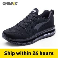 ONEMIX الرجال احذية الجري شبكة متماسكة المدربين مصمم تنس الرياضة أحذية رياضية أسود وسادة أحذية رياضية 270 في الهواء الطلق أحذية للمشي تشغيل