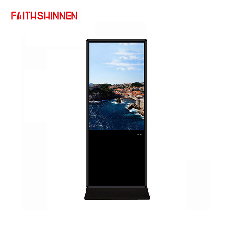 43 Inch Android Advertising Display Stands Wireless Digital Signage Totem Networked Informational Kiosks