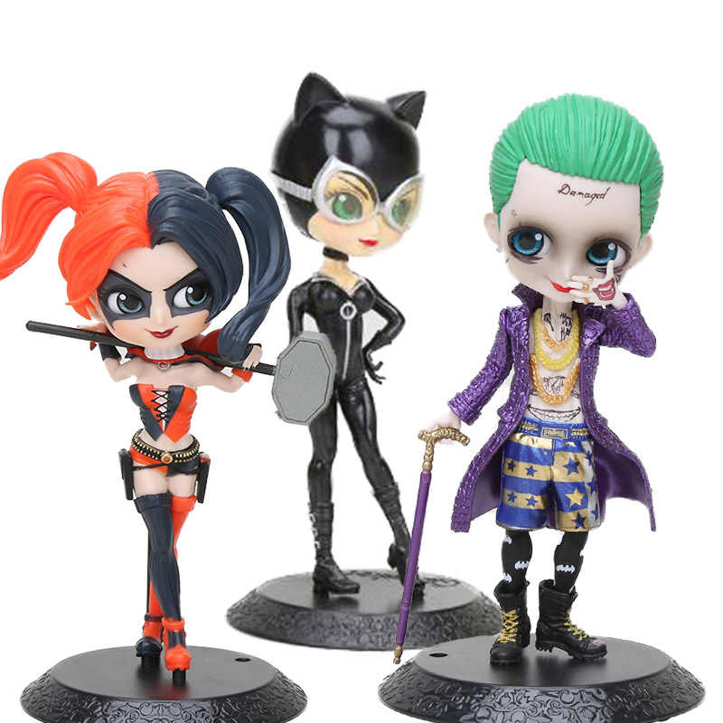 Q posket Suicide Squad Harley Quinn Mini the Joker catwoman Qposket Suicide Squad Wonder Woman Figurines Collectible Kids Toys