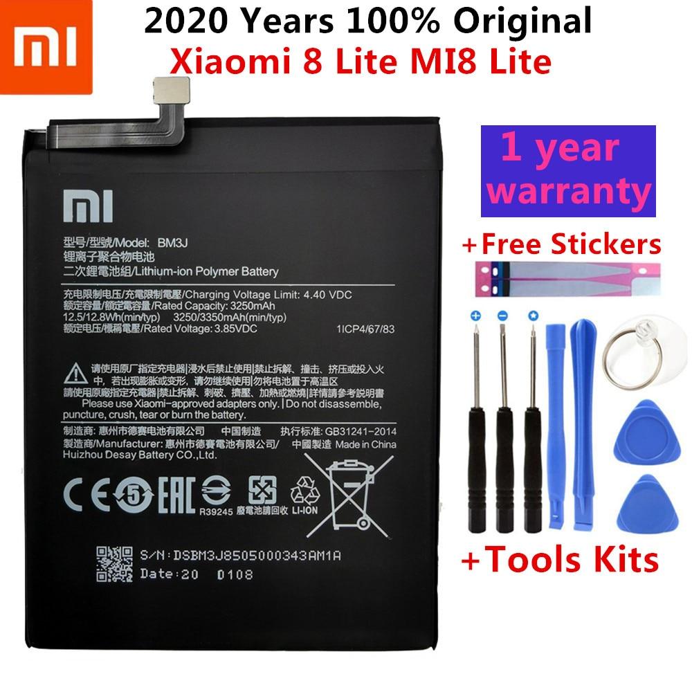 Аккумуляторная батарея BM3J для Xiaomi 8 Lite MI8 Lite, 3350 мАч, с инструментами