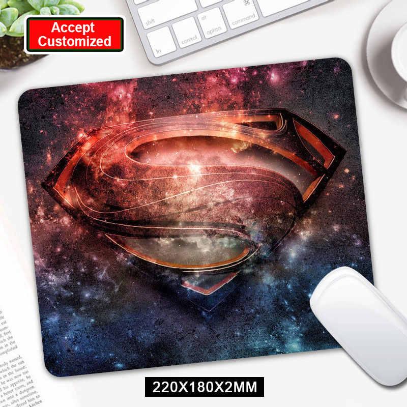 スーパーマンのロゴマウスパッド有線マウスパッドコンピュータキーボードデスクマウスマット