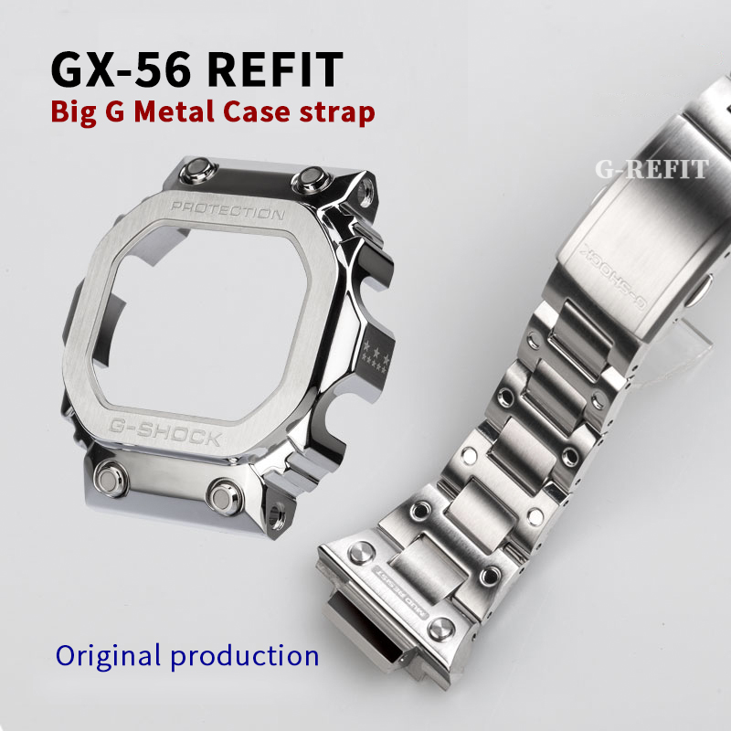 G-Refit GX56 Watch Band/case GWX56 Watch Bezel Watch Strap 316L Stainless Steel  Silver Black Gold Rainbow Repal Tools