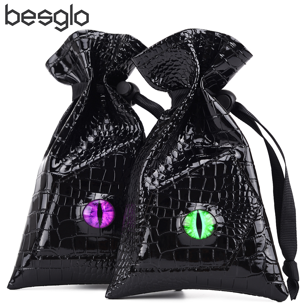 Dragon Eye Dice Bag Drawstring PU Leather DND Dice Storage Bag For DnD Dice Coins And Other Accessories