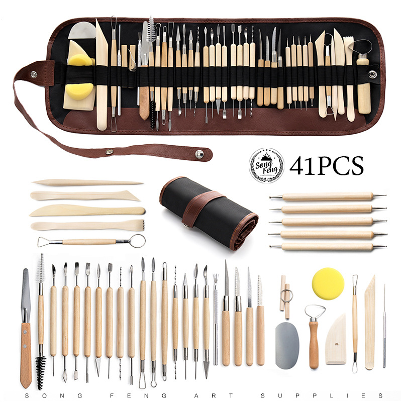 Art Supplies Polymer Clay Silicone Tools Clay Sculpting Kit Sculpt Smoothing Wax Carving Pottery Ceramic Shapers Modeling Carved