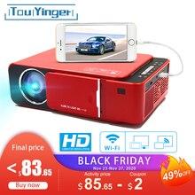 TouYinger T6 Di Động HD LED HDMI ( Android Wifi Tùy Chọn) video Máy Cân Bằng Laser 1 Hỗ Trợ 4K Full HD 1080P Rạp Hát Tại Nhà Điện Ảnh