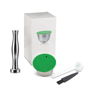 Dolce Gusto Coffee-Machine Nescafe Capsule Refillable Dripper Tamper Stainless-Steel
