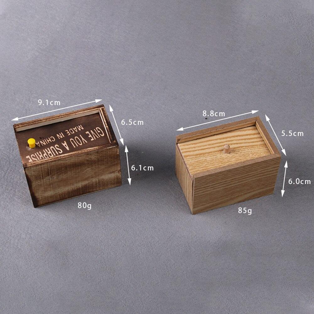 Chilren шалость безделушка день апреля дурака пародия смешная пугать Маленькая деревянная коробка паук страшные игрушки для малышей Веселая страшная коробка паук шалость