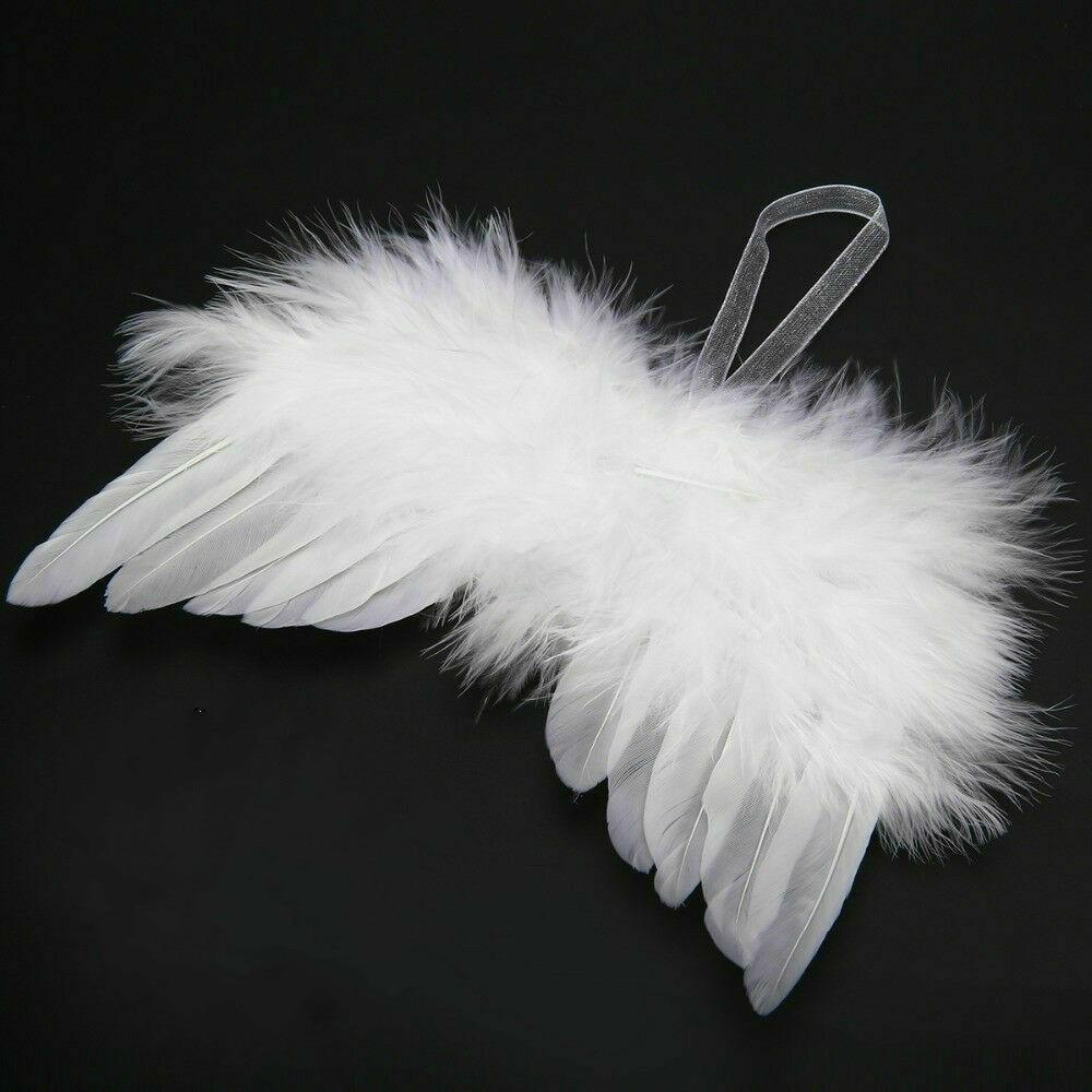 Weiße Feder Flügel Schöne Chic Engel Weihnachts Baum Dekoration Hängen Ornament Home/party/hochzeit Ornamente