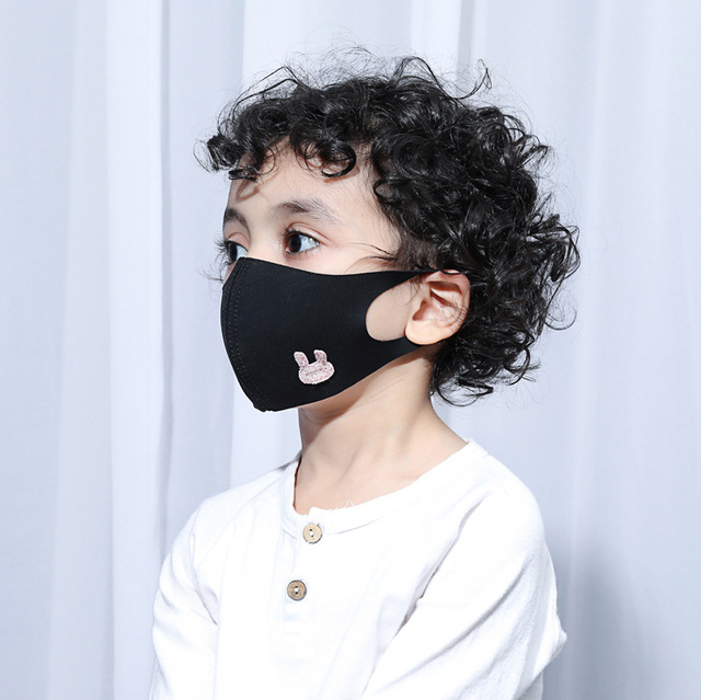Women Men Kids Animal Black Mouth Mask Anti Dust Windproof Mouth-muffle Bacteria Proof Flu Elastic Face Masks Washable 1