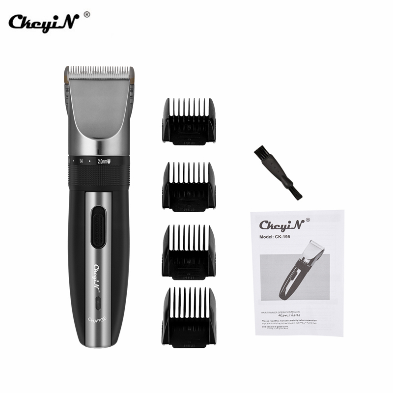 Barber Professional Rechargeable Hair Clipper Hair Trimmer Men Electric Cutter Hair Cutting Machine Haircut Tools 195-46