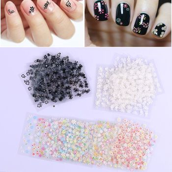 Mix 10pcs Nail stickers 3D adhesive self-adhesive waterproof nail decals can be used bronzing white nail polish patch image