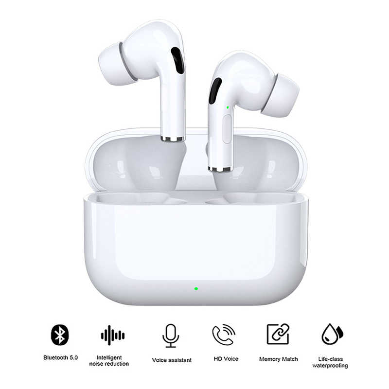 Nirkabel Earphone Bluetooth 5.0 Headphone TWS Kebisingan Membatalkan Headset Tahan Air Earphone dengan Earpiece Mic untuk Iphone Xiaomi
