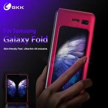 삼성 Galaxy Fold 케이스 용 GKK 오리지널 Anti knock Full Protection 삼성 Fold Coque 용 초박형 플립 매트 하드 PC 커버