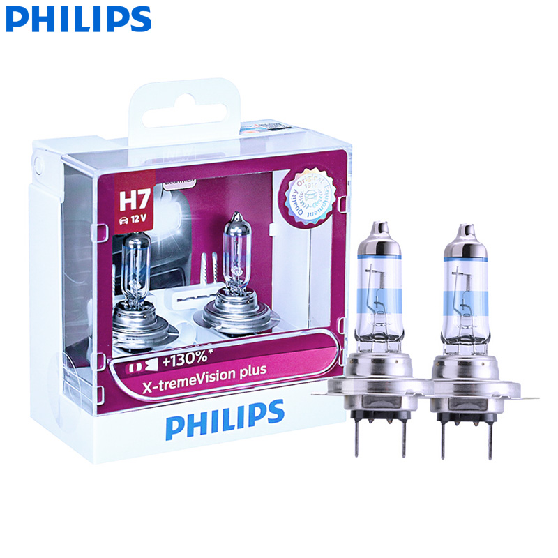 Philips H7 Xtreme Vision 12v 130/% more brightness Car BULBS Twin
