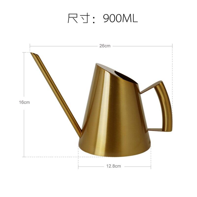 Металл лейка банка нержавеющая сталь сталь длинный носик золотой бронза дом садоводство лейка банки для бонсай в помещении и на открытом воздухе