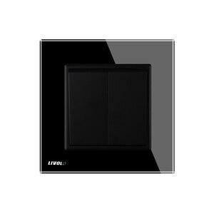 Image 4 - Fabricante Livolo, panel de cristal negro de lujo estándar de la UE, interruptor de botón de 1 vía, almohadilla kek, sin logotipo
