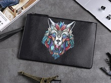 Monster Creature King Men Clutch PU Handbag for Money Phone IPAD Street Potable Case Bag все цены