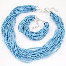 Special Offer Euro-American Baitao Bohemian Mizhu multi-layer Necklace Bracelet suit