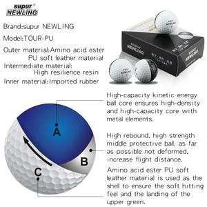 Image 4 - Мячи для игры в гольф на супер большом расстоянии 6 шт./кор. трехслойные шары из ПУ подходят для желобов черного и белого цвета