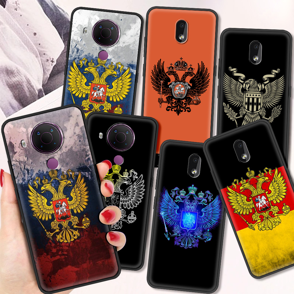 Russia Coat Of Arms Eagle Flag Luxury Silicone Cover For Nokia 2.2 2.3 3.2 4.2 7.2 1.3 5.3 8.3 5G 2.4 3.4 C3 1.4 5.4