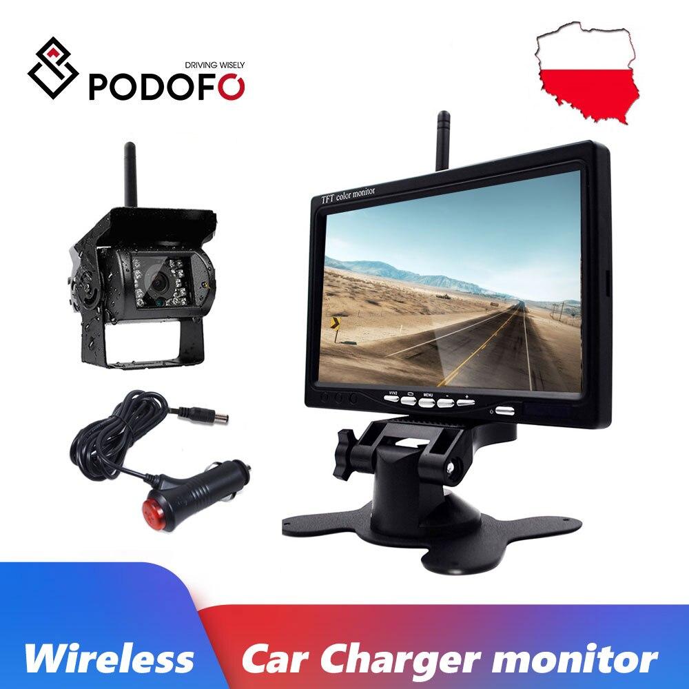"RV Truck Trailer 18LEDs Backup Camera Wireless 5/"" TFT LCD Rear View Monitor"