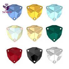 YANRUO 3272 толстый треугольник все размеры швейные камни стеклянные стразы DIY камни высшего качества сшитые кристаллы для одежды свадебное платье