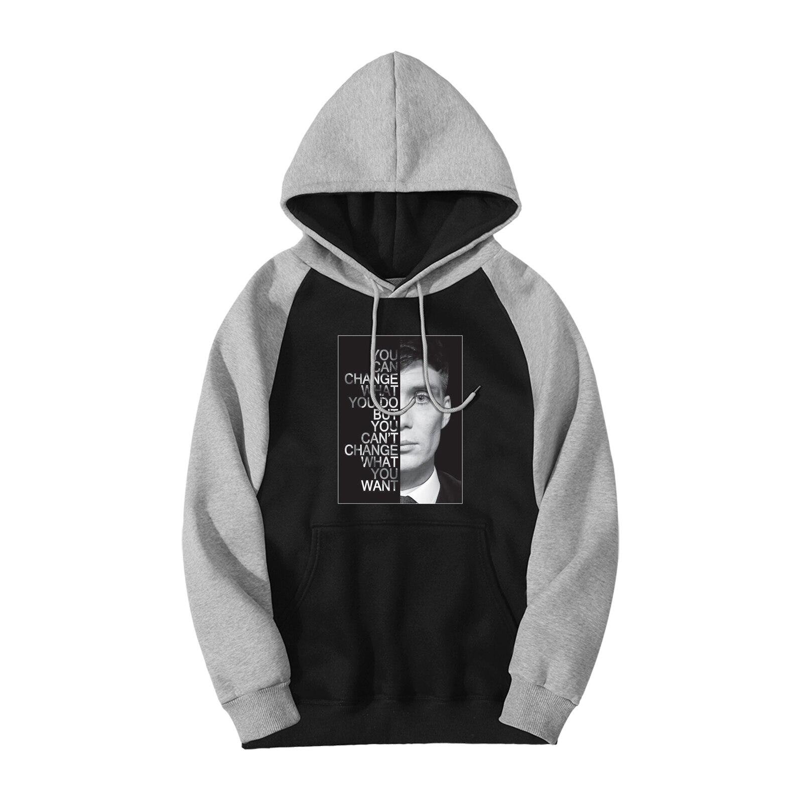 Peaky Blinders TV Show Raglan Hoodies Men 2019 Autumn Winter Casual Sweatshirts Bodywarmer Fashion Fitness Hip Hop Streetwear