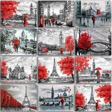 Peinture diamant thème tour Eiffel, paysage de Paris, broderie complète 5D, perles carrées et rondes, points de croix, mosaïque