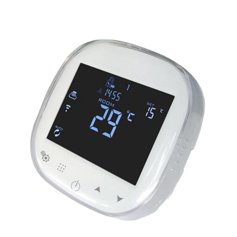 Wifi Pressscreen Термостат Программируемый Регулятор температуры Электрический/Watring подогрев пола термостат совместим с Googl