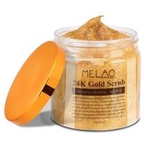 Pure 24K Gold Body Scrub Anti-Wrinkle Exfoliating Scrubs Bath Salt Makeup Tools