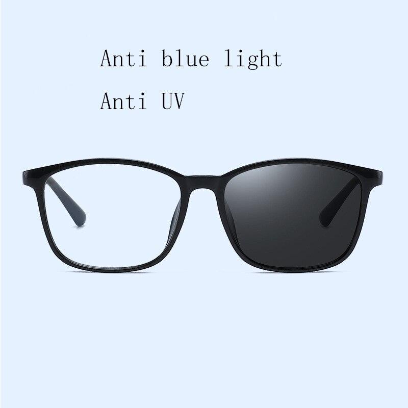 Anti Blue Ray Radiation Blue Light Blocking Glasses Square Photochromic Sunglasses Classic Nerd Eyewear