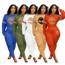 2020 Warm Winter Women's set Tracksuit Full Sleeve Sweatshirt print casual Pants Suit Two Piece Set Outfits sweatsuit