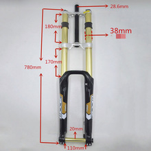 Bike Fork Mountain-Suspension Downhill ZOOM 680DH Damping Golden MTB White Black