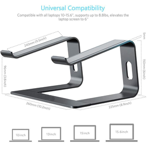 Image 5 - Jelly Comb Laptop Stand Aluminum Holder for Laptop Notebook PC Computer Ergonomic Bracket Metal Cooling Stand Heat Dissipation
