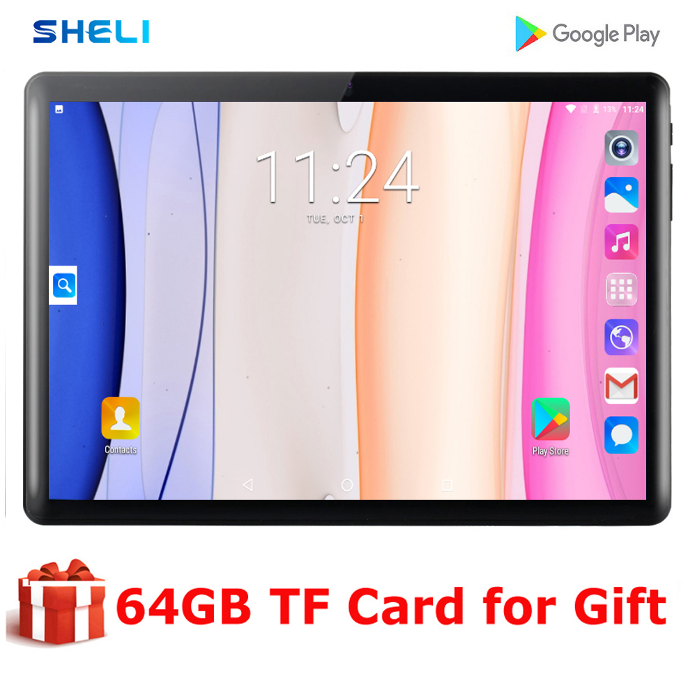 2020 Newest 10 Inch Tablet PC 32GB ROM Dual SIM Cards Android 9.0 GPS 3G WIFI GPS Tablet PC 10 10.1