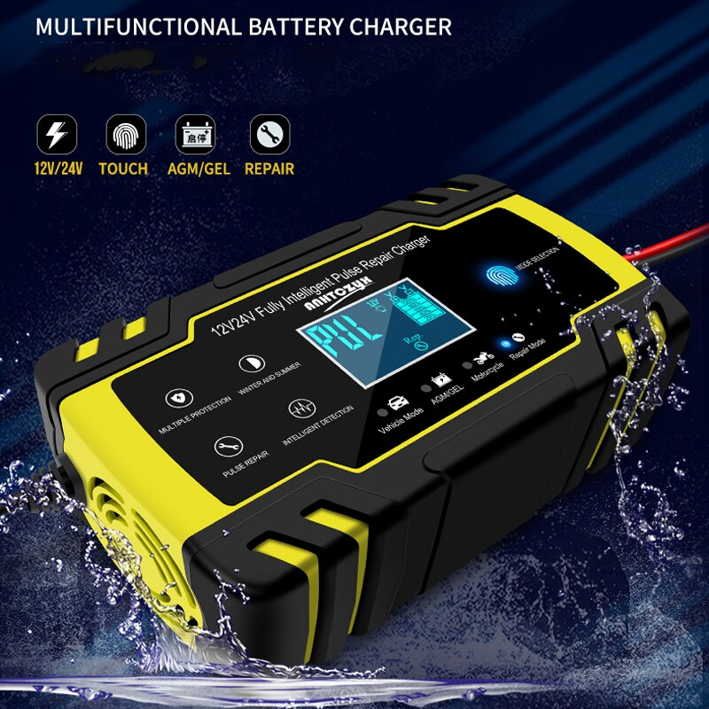 <font><b>Car</b></font> <font><b>Battery</b></font> <font><b>Charger</b></font> Digital LCD Display 12V 8A/24V <font><b>Pulse</b></font> <font><b>Repair</b></font> Fast Power <font><b>Chargers</b></font> Automatic Wet Dry Lead Acid <font><b>Battery</b></font> <font><b>Chargers</b></font> image
