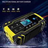 12V 24V Volle Automatische Nass Trocken Blei Säure Batterie-ladegeräte Digital LCD Display Auto Batterie Ladegerät Power puls Reparatur Ladegeräte