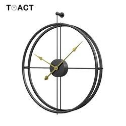 Reloj de pared de hierro forjado, decoración del hogar, Relojes de pared grandes, Relojes de pared montados, relojes colgantes de diseño moderno europeo