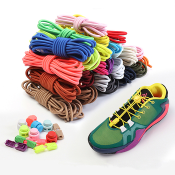 Quick wear in 1 second No Tie Shoelaces Round Spring plastic lock Elastic Shoelaces hiking sports Shoe accessories Lazy lace darseel shoe accessories shoelaces tax